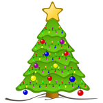 image of a Christmas tree for children