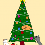 Download a simple image of a Christmas tree
