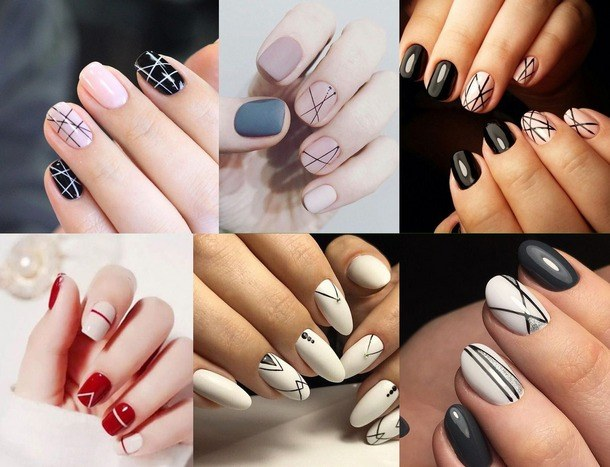 fashion manicure for short